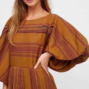 Free People Gauze Stripe Dress size XS